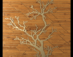 Wall panel oak 3D model