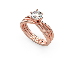 Engagement Ring 3D printable model wedding