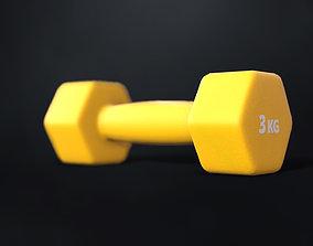 3D model Fitness dumbbells 3 kg