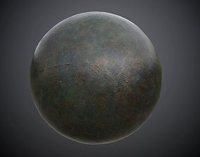 3D model Metal Military Painted Seamless PBR Texture