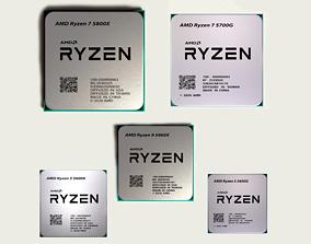 3D model CPU AMD Ryzen 5 Generation