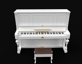 piano white 3D model