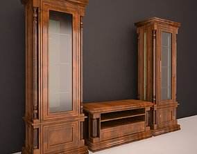 3D model Classic wardrobe for the living room