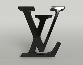 3D model VR / AR ready Louis Vuitton Logo 001