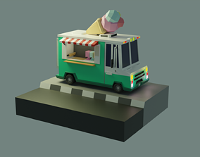 3D asset Ice Cream Truck