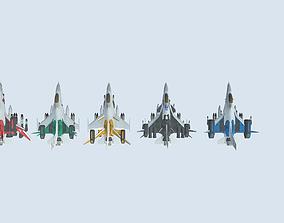 fighter jets 3D asset