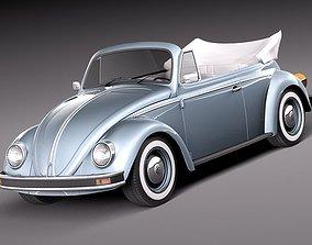 Volkswagen Beetle 1980 Convertible 3D