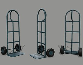 Trolley pushcart 3D asset low-poly