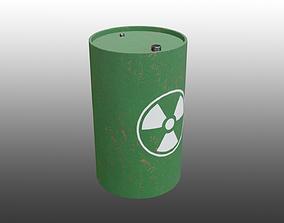 Rusty Radiation Waste Barrel 3D model