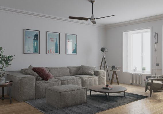 Living room in a Scandinavian style