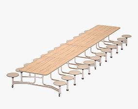 3D asset Cafeteria Table