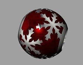 3D printable model Snowflake Pandora Bead