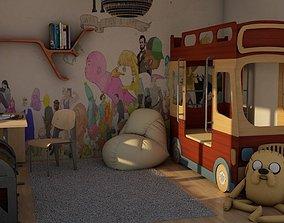 realistic child room 3D model