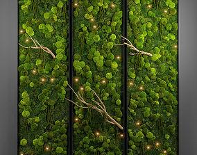 panel moss wall 3D model