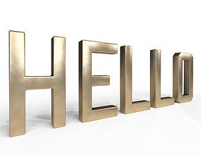 3D Decor Object - Hello Text