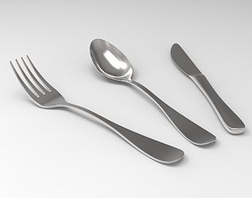 3D Stainless Steel Cutlery Set