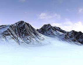 Snow Mountain 3D asset game-ready environment