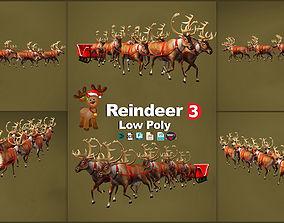 Reindeer Christmas 3D model