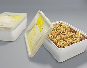 3D Realistic Spaguetti instant noodles
