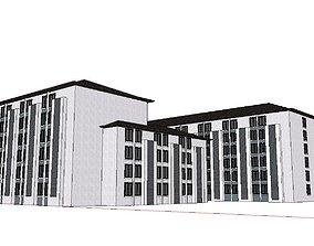 Office-Teaching Building-Canteen 83 3D model
