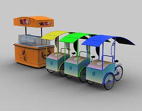 3D asset Ice Cream Cart