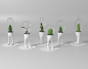 3D model Pot and Plant 07