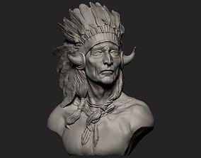 3D printable model American Native Warrior