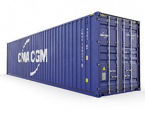 40 feet CMA-CGM High Cube shipping container 3D model