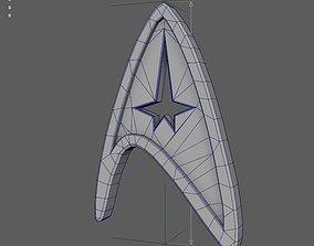 Badge of command from Star Trek 3D print model