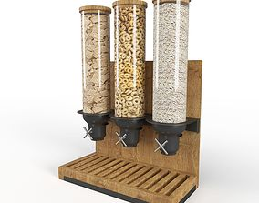 Triple Canister Cereal Despencer 3D model