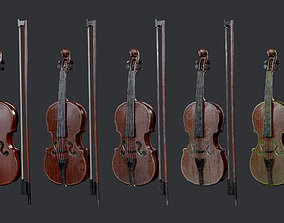 3D asset 5 Violin Instrument Pack Game Ready