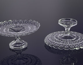 3D print model decorative crystal glass fruit plate