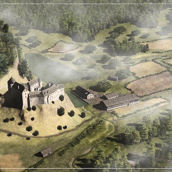 Hohenburg castle 1701