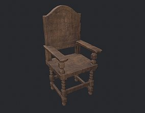 Wooden Chair - Old Chair - Vintage Chair - Aged 3D asset