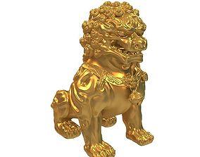 sculpture confucius Lion Statue 3D model
