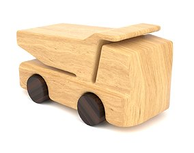 Wooden toy truck 16 3D model