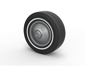 Diecast Car wheel 6 Scale 1 to 10 3D printable model