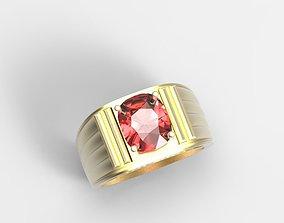 3D printable model Single Gemstone Man Ring