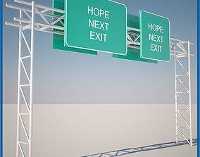 Highway Sign vms 3D
