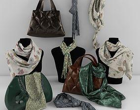 shawls and handbags 3D