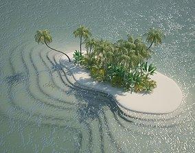 world Island Scene 3D model