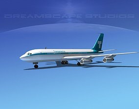 3D Boeing 707 Transamerica