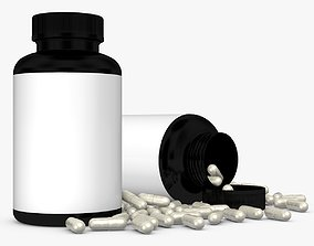 3D Bottle with Capsules