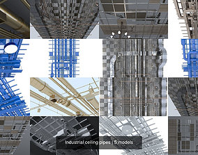 3D model Industrial ceiling pipes