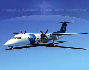 3D model DeHavilland DHC-8-Q300 SATA Air