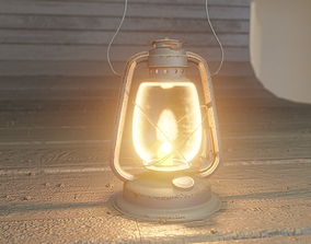 lantern model uv unwrapped and textured