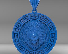 3D print model Lion Pendant medal