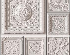 3D model 10 Decorative Ceiling Tile Collection