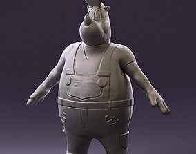 Humanoid man rhino 0885 3D Print Ready