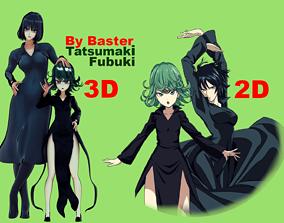 psychic sisters Tatsumaki and Fubuki 3D